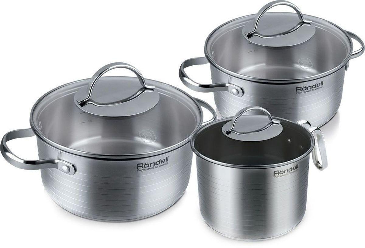 Набор посуды Rondell Symphonia, 6 предметов, нержавеющая сталь rondell 377 symphonia