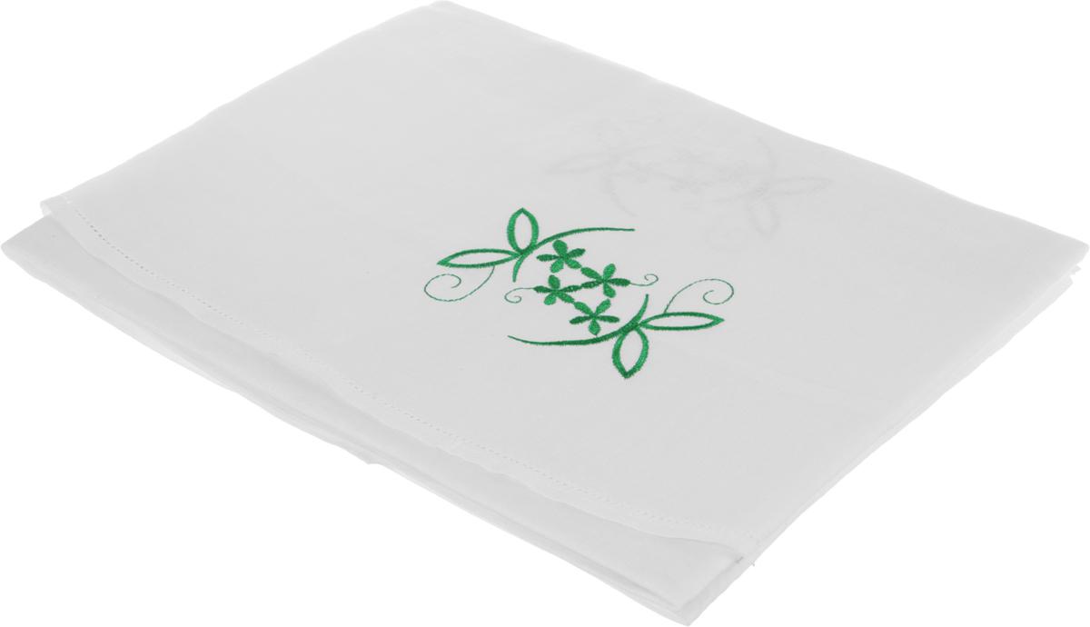 Скатерть Гаврилов-Ямский Лен, круглая, цвет: белый, зеленый, диаметр 150 см. 5со67194630003364517Круглая скатерть Гаврилов-Ямский Лен, выполненная из натурального льна с вышивкой, является отличным украшением любого стола.Лён - поистине, уникальный экологически чистый материал. Изделия из льна обладают уникальными потребительскими свойствами. Такая скатерть порадует вас невероятно долгим сроком службы.Скатерть Гаврилов-Ямский Лен создаст уют и тепло в вашем доме.
