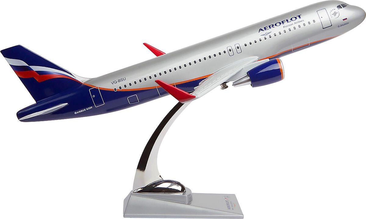 Модель самолета Аэрофлот Airbus А320 Sharklets wings, масштаб М1:1002200001706Модель Airbus A320 выполнена из композитной смолы с металлической стойкой-подставкой.Airbus A320 — узкофюзеляжный пассажирский самолет, первый, на котором была применена электродистанционная система управления. Характерная особенность модели — наличие новых законцовок крыла (шарклетов), позволяющих увеличить дальность полета и при этом повысить экономию топлива.