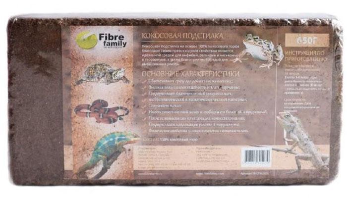 Торф кокосовый в брикетах Fibre Family Подстилка для террариумов, 650 гЧП-11Кокосовая подстилка на основе 100% кокосового торфа, благодаря своим превосходным свойствам, является идеальной средой для амфибий, рептилий и насекомых в террариуме, а также благоприятной средой для выращивания улиток.
