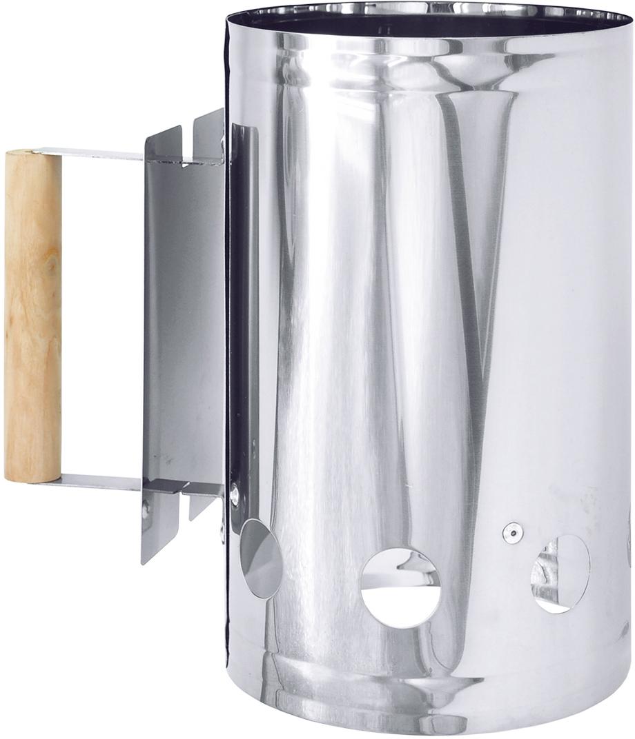 Стартер для розжига угля ПИКНИЧОК, 27 х 25 х 16,5 см68/5/2Стартер для розжига угля ПИКНИЧОК изготовлен из нержавеющей стали. Изделие имеет удобную ручку, изготовленную из дерева, которая не будет нагреваться.Стартер для розжига используется для разжигания угля или брикетов при приготовлении в жаровне или на мангале. Уголь или угольные брикеты разгораются гораздо быстрее и равномернее, чем в жаровне или мангале. Отверстия на дне и в нижней части стартера, а также его открытый верх, обеспечивают оптимальную тягу, позволяющую быстро и равномерно разогреть угли. Специальная пластина защищает ручку стартера от перегрева, а руку - от ожога.Размеры изделия: 27 х 25 х 16,5 см.