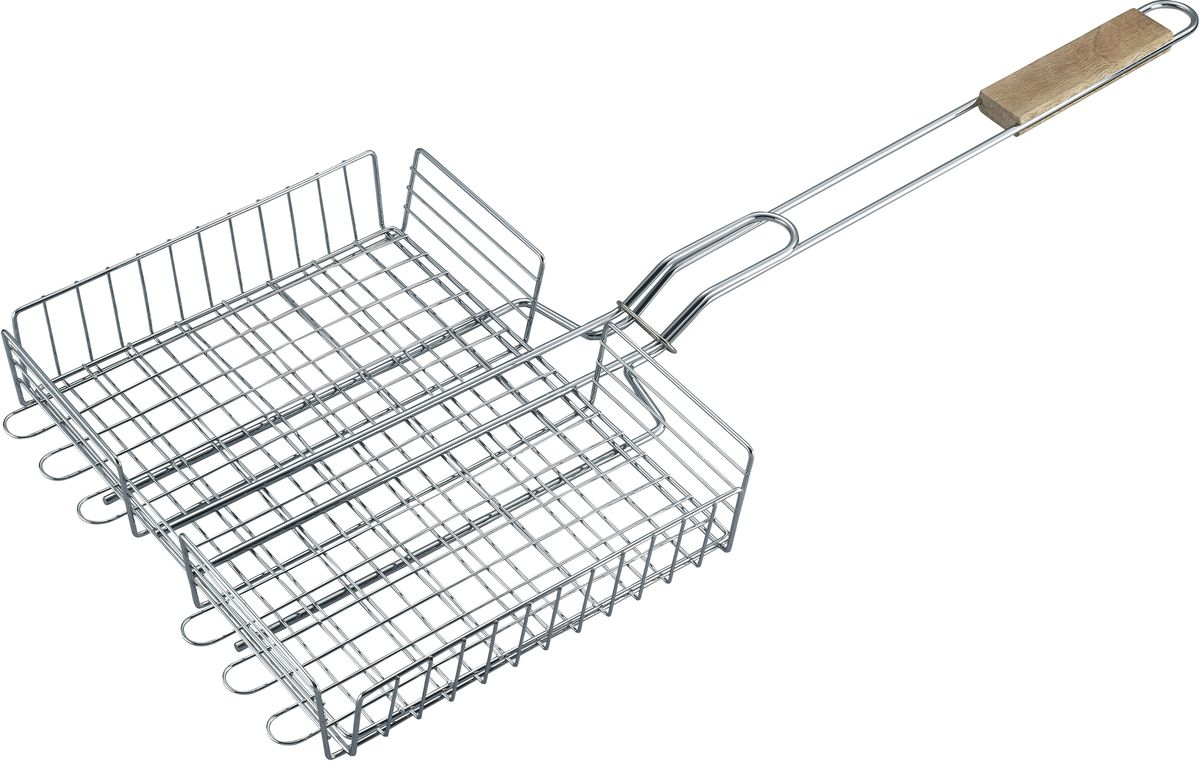 Решетка для барбекю Bekker BK-3080(20)62-0003решетка 68 х (30.5 х 24.5) х 5.5 см. Состав: сталь, ручка деревянная. Вес 750 г.