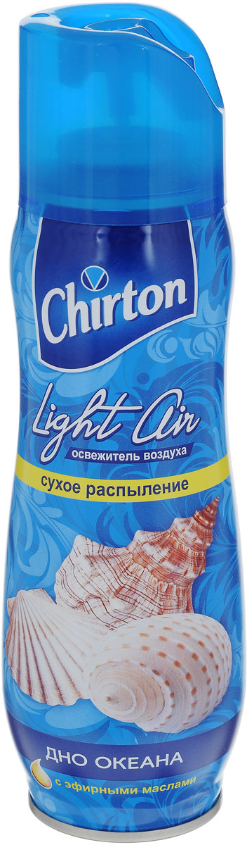 Освежитель воздуха Chirton Light Air, дно океана, 300 мл65414438/8747875В освежителе воздуха Chirton Light Air используется новая формула - сухое распыление. Благодаря ей аромат становится более стойким, не остаются брызги и пятна на полу и мебели, которые могут возникнуть при использовании обычных аэрозолей. Освежитель воздуха Chirton Light Air помогает быстро избавиться от неприятных запахов.Товар сертифицирован.