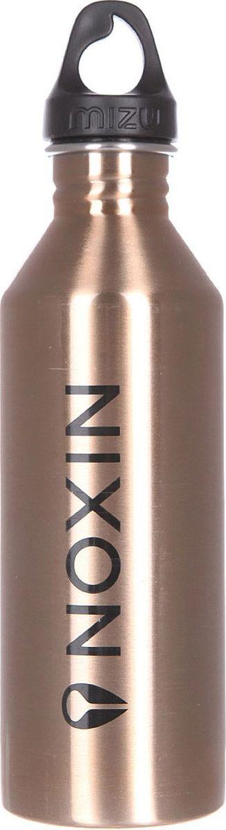 Бутылка для воды Mizu M8, цвет: розовый, золотистый, 800 мл67743Бутылка из пищевой нержавеющей стали, c логотипом NIXON, для тех, кто заботится об окружающей среде и своем здоровье. Объем: 800 мл. Обхват: 24 см. Диаметр: 7 см. Высота (с крышкой): 26 см.