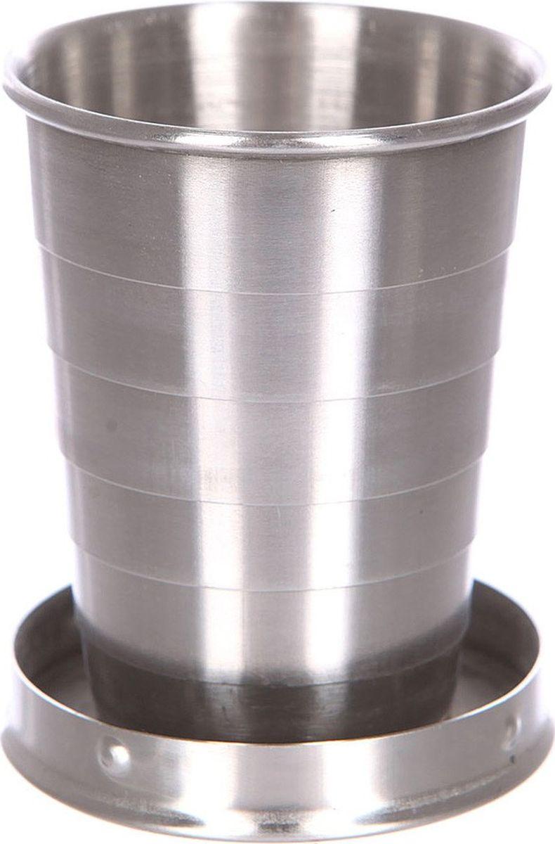 Рюмка Mizu Shot, цвет: серый320400003Складная, компактная рюмка c логотипом VOLCOM, из нержавеющей стали будет незаменима на любой вечеринке и в походе. Объем: 59,15 мл. Диаметр: 5 см. Обхват: 16 см. Высота (в закрытом состоянии): 2 см. Высота (в открытом состоянии): 6 см.