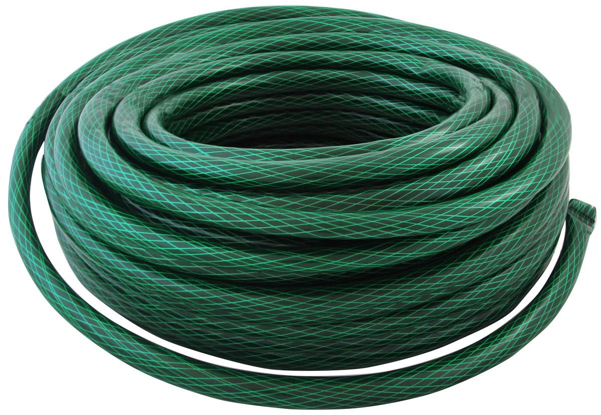 Шланг поливочный Frut, 3/4, цвет: зеленый, 40 м96515412Диаметр: 3/4, длина: 40 м.Трехслойный, с плетеным (армированным) слоем для повышения прочности и увеличения срока использования. Допустимое давление: 10 bar. Рабочее давление: 3 bar. Допустимая температура: от -5 до +50?C. Предназначен для общего бытового применения и садовых работ.