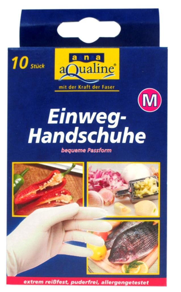 Набор одноразовых перчаток Aqualine, размер: L, 10 шт69220Одноразовые перчатки Aqualine предназначены для любых работ по дому, а также в саду, парикмахерской и больнице. Они сохраняют высокую чувствительность рук, хорошо растягиваются и в то же время высокопрочные на разрыв. Небольшое количество протеина обеспечивает защиту чувствительной кожи от аллергии. Каждая перчатка подходит на обе руки. Характеристики:Состав: натуральная резина, наполнитель, средства для вулканизации, стабилизаторы, диоксид титана. Размер:L (большой). Комплектация:10 шт. Размер упаковки: 14,5 см х 3 см х 8 см. Производитель:Германия. Артикул:9079.