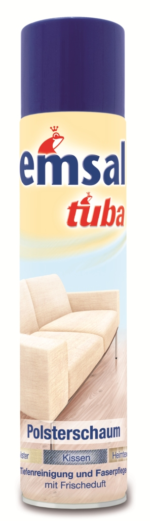 Пена для чистки мягкой мебели Tuba, 300 млMP-81505780Пена Tuba быстро чистит все виды мягкой мебели без промокания ткани и предотвращает быстрое повторное загрязнение. Подходит для всех обивных тканей со стойкой краской (из натуральных и синтетических волокон), чехлов и обивки сидений в автомашине, и чехлов для пластмассовой мебели.Товар сертифицирован.