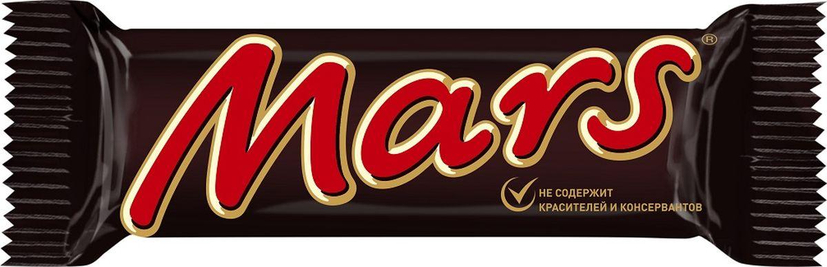 Mars шоколадный батончик, 50 г0120710Батончик Mars - это уникальное сочетание нуги, карамели и лучшего молочного шоколада, отличный способ перекусить с удовольствием. Мультипак Mars - это пять батончиков, которые помогут утолить голод в любое время!