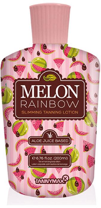 Tannymaxx Крем-ускоритель для загара 6th Sense Melon Rainbow Slimming, без бронзаторов, на основе алоэ вера со slimming-эффектом, 200 мл - Аксессуары и средства для солярия