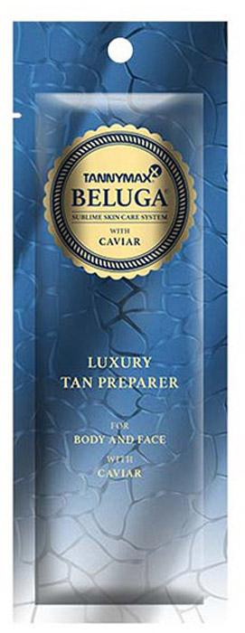 Tannymaxx Крем-ускоритель для загара Beluga Luxury Tan Preparer, без бронзаторов с экстрактом икры и инновационной формулой TMX Hydro Complex, 15 мл1320Beluga Luxury Tan Preparer обеспечивает эксклюзивный уход и подготовку кожи к процессу загара. Аминокислоты лизин, аргинин и гистидин, содержащиеся в экстракте икры, поддерживают обмен веществ в клетках кожи лица и тела. Алое вера обеспечивает естественное увлажнение кожи и защищает ее от негативных воздействий. Содержащиеся в масле жожоба витамины E, A и D стимулируют процессы увлажнения Вашей кожи, а решение Lipo Melanin обеспечивает сбалансированную выработку меланина и предотвращает возникновение пигментных пятен. Моделирующий влагоудерживающий комплекс TMX Hydro Complex не содержит консервантов и позволяет коже дышать. Подходит для чувствительной кожи. Для лица и тела.
