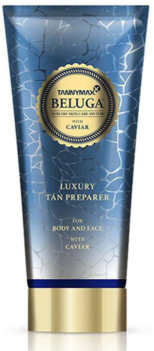 Tannymaxx Крем-ускоритель для загара Beluga Luxury Tan Preparer, без бронзаторов с экстрактом икры и инновационной формулой TMX Hydro Complex, 200 мл - Аксессуары и средства для солярия