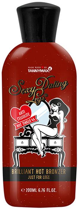 Tannymaxx Sexy Dating Legs  Hot Brilliant Bronzer  крем-ускоритель для загара ног с бронзатором тройного действия, с тингл-эффектом и антицеллюлитным эффектом, 200 мл - Аксессуары и средства для солярия