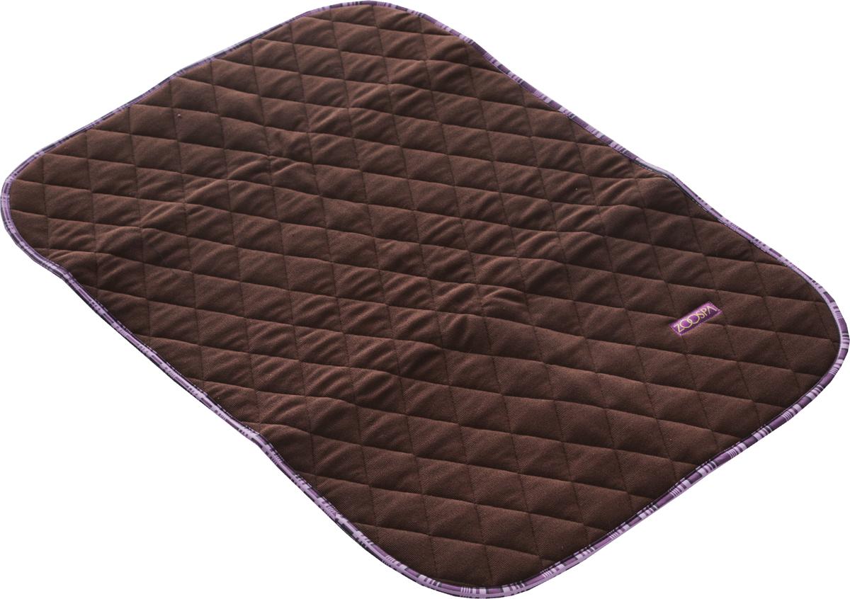 Пеленка впитывающая для животных ZooSpa, многоразовая, 5-ти слойная, цвет: коричневый, 70 x 50 см101246Пеленка ZooSpa используется как комфортная впитывающая подстилка в туалетных лотках, в переносках, в автомобиле. Быстро поглощает жидкость в значительных объемах (до 2,5 л на 1 кв. м). Изделие выполнено из 100% полиэстера и ткани ABSO (многослойная абсорбирующая ткань с полиуретановой мембраной). Пеленка состоит из пяти слоев, которые обеспечивают абсолютную защиту от протекания, быстро высыхает и не скользит, лапки вашего питомца всегда сухие, отсутствуют неприятные запахи. Многоразовую пеленку можно стирать минимум 300 раз без потери функциональных свойств. Такая пеленка не загрязняют окружающую среду и экономят ваши деньги. Не содержит наполнителей, не выделяет опасных химических веществ, очень прочная ткань, которую сложно прогрызть или разорвать.Размер пеленки: 70 х 50 см. Материал: ткань ABSO (многослойная абсорбирующая ткань с полиуретановой мембраной), 100% полиэстер.