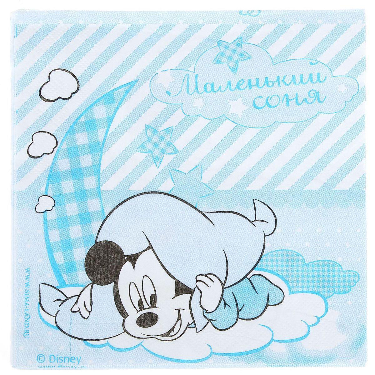 Салфетка для декупажа Disney Микки Маус. Сладкий малыш, 33 х 33 см1189461Салфетка для декупажа изготовлена из тонкой, но качественной бумаги. Легко приклеится к основе и сохранит при этом насыщенность красок и четкость линий.Создавайте свои уникальные шедевры!