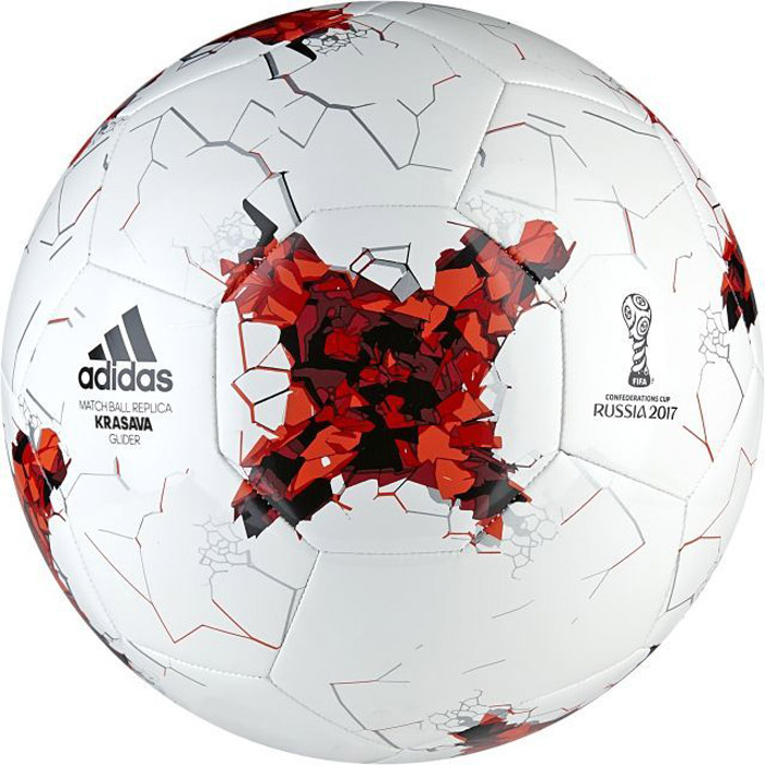 Мяч футбольный Adidas Confed Glider, цвет: белый, красный. AZ3188. Размер 5231_002Оттачивай мастерство с этим футбольным мячом мирового уровня, созданным в честь Кубка конфедераций 2017. Модель украшена графикой турнира. Бутилкаучуковая камера с машинной строчкой обеспечивает максимальную прочность.Машинная строчка обеспечивает мягкий контакт и максимальную прочностьБутилкаучуковая камера надежно удерживает воздухТочная копия официального мячаГрафика Кубка конфедераций 2017Требуется накачать камеруВес: 420-445 г.