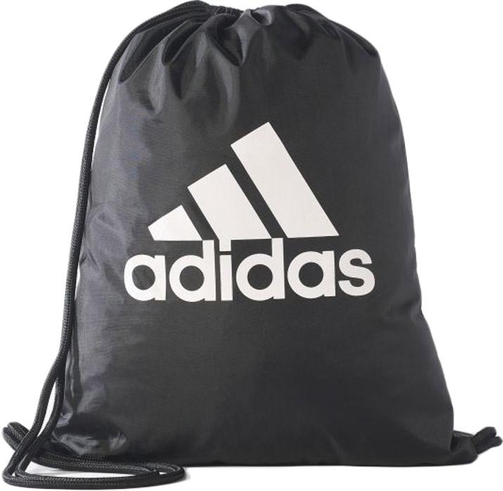 Рюкзак Adidas Tiro Gb, цвет: черный, белый. B46131L39845800Удобная сумка-мешок для обуви с логотипом Adidas Perfomance