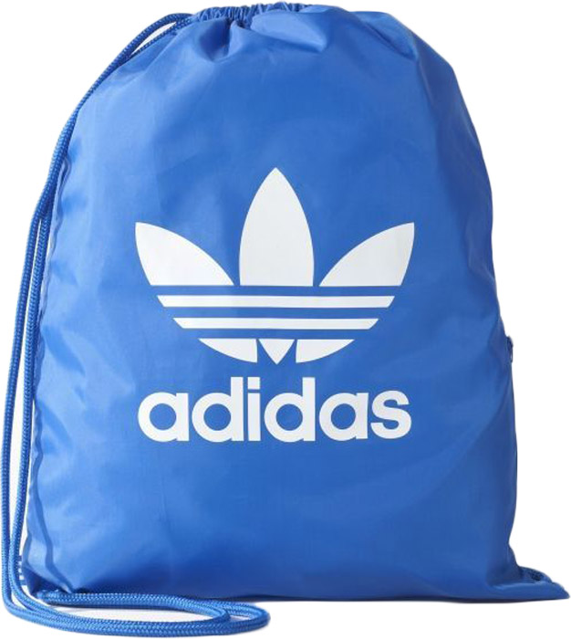 Рюкзак Adidas Gymsack Trefoil, цвет: голубой. BJ835823008Удобная сумка-мешок для обуви с логотипом Adidas Originals