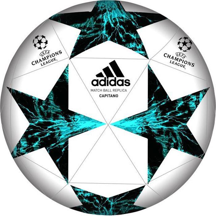 Мяч футбольный Adidas Finale 17 Cap, цвет: белый, черный, зеленый. BP7778. Размер 5BP7778Мяч компании Adidas Finale 17 Cap основан на элементах дизайна официального турнирного мяча Лиги чемпионов УЕФА в 2017 году Машинная строчка обеспечивает мягкий контакт и максимальную прочностьЛитая резиновая камераПеред использованием требуется накачать камеру.