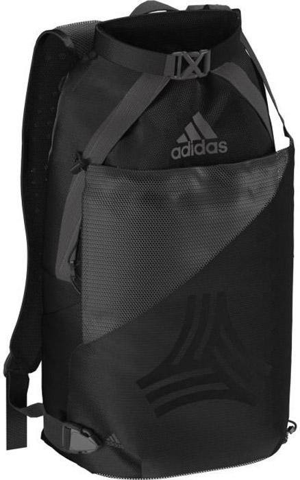 Рюкзак Adidas Tango M Bp, цвет: черный. BR167723008Большой рюкзак, в котором имеется специальное отделение для мяча или обуви, а также карман для нотубука. Сделанное лазером изображение логотипа Tango и Adidas
