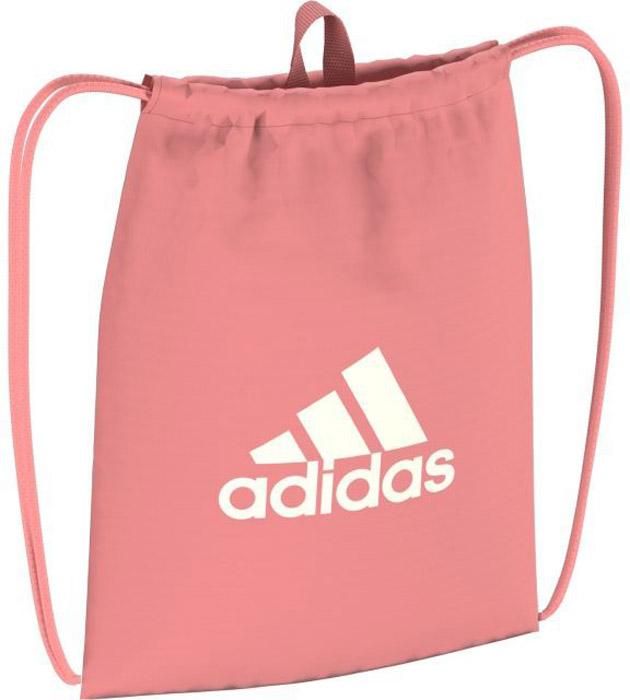 Рюкзак Adidas Per Logo Gb, цвет: розовый. BR520023008Разноцветная сумка для спортивной одежды. Вместительное основное отделение на завязках-шнурках. Петелька для носки в руках. Крупный логотип adidas на лицевой стороне.Вместительное основное отделение на завязках-шнуркахВеревочные завязки можно использовать как лямкиРучка-петля для переноскиКрупный логотип adidas на лицевой сторонеРазмеры: 37 см х 47 см