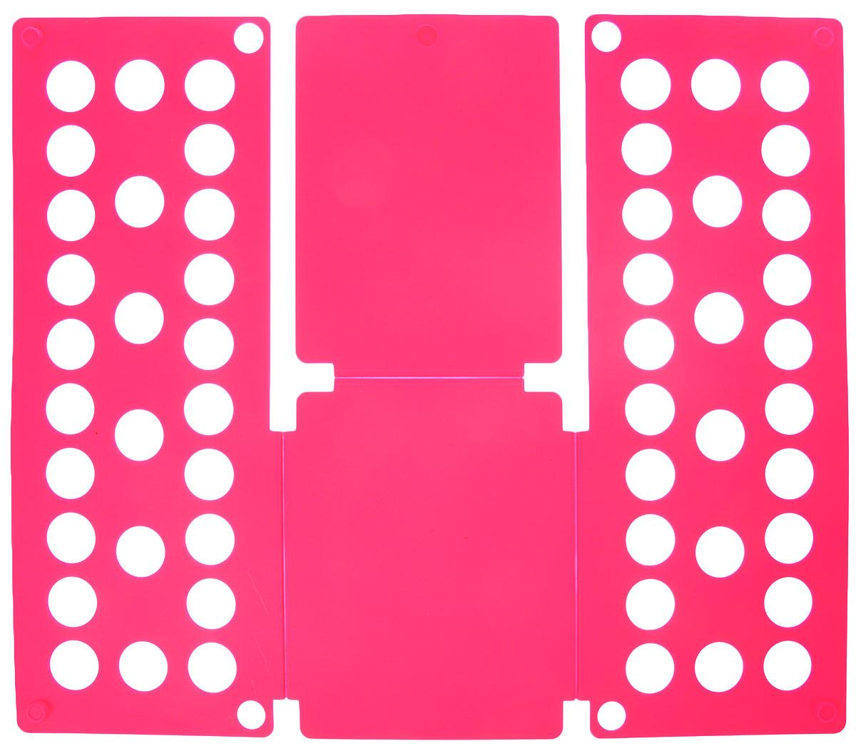 Приспособление для складывания одежды Sima-land, цвет: розовый1411846_розовыйПриспособление для складывания одежды Sima-land поможет навести порядок в вашем шкафу. С ним вы сможете быстро и аккуратно сложить вещи. Приспособление подходит для складывания полотенец, рубашек поло, вещей с короткими и длинными рукавами, футболок, штанов. Не подойдет для больших размеров одежды. Приспособление выполнено из качественного прочного пластика. Изделие компактно складывается и не занимает много места при хранении. Размер в сложенном виде: 40 х 16 см. Размер в разложенном виде: 48 х 40 см.