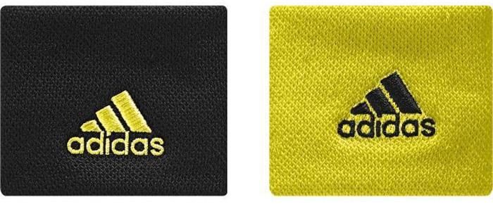 Напульсники Adidas Ten Wb S, цвет: черный, желтый. CE8189. Размер универсальныйCG3109Сконцентрируйся только на мяче и подачах. Эти теннисные напульсники помогут ни на что не отвлекаться. Комфортный плотный материал хорошо впитывает влагу. Вышитые логотипы adidas дополняют спортивный образ.Круглая формаМаксимальный комфорт благодаря материалу, конструкции и прочностиВышитый логотип adidasШирина: 5 см; длина в сложенном состоянии: 8,5 см