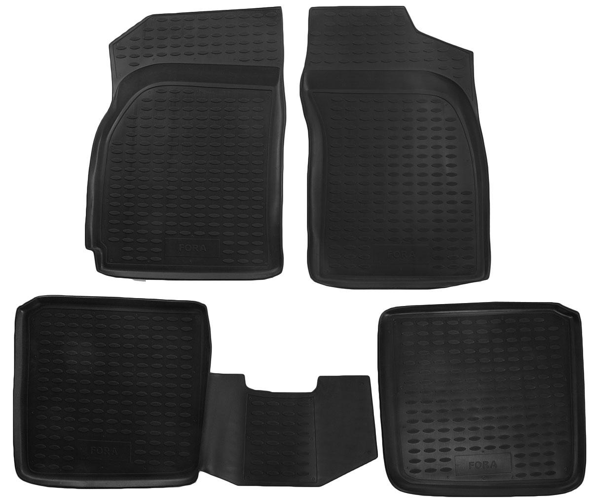 Набор автомобильных ковриков Novline-Autofamily для Chery Fora A-520 05/2006-, в салон, 4 штNLED-420-1.5W-RНабор автомобильных ковриков Novline-Autofamily, изготовленный из полиуретана, состоит из 4 ковриков, которые учитывают все особенности каждой модели автомобиля и полностью повторяют контуры пола. Полиуретановые автомобильные коврики для салона произведены из высококачественного материала, который держит форму, прочный и не пачкает обувь. Коврики в салон не только улучшат внешний вид салона вашего автомобиля, но и надежно уберегут его от пыли, грязи и сырости, а значит, защитят кузов от коррозии. Полиуретановые коврики для автомобиля гладкие, приятные и не пропускают влагу. Ковры для автомобилей надежно крепятся на полу и не скользят, что очень важно во время движения. Чистятся коврики очень просто: как при помощи автомобильного пылесоса, так и различными моющими средствами. Набор подходит для Chery Fora A-520 с мая 2006 года выпуска.