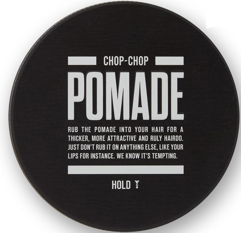 Chop-Chop Помада для волос, 100 млCHPCHP.PMDКлассическая помада на вазелиновой основе с легкой и пластичной фиксацией на весь день. Подходит для средних и длинных волос, имеет легкий ненавязчивый аромат. Фиксация: 1/3 Текстура: легкий блеск Объем: 100 мл