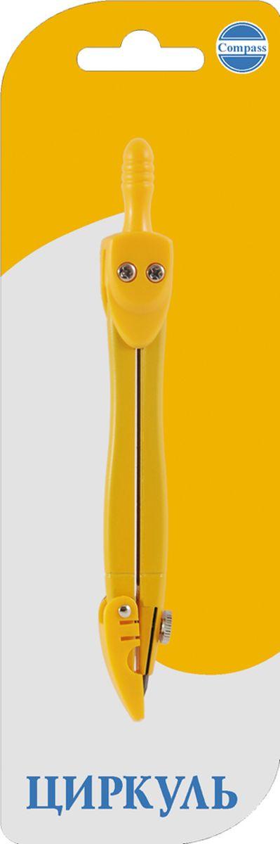 Perfecta Циркуль School цвет желтый 12 смZ/SB1-04Циркуль 120 мм цветной металлический с коленным соединением и фиксированной иглой. В блистере.