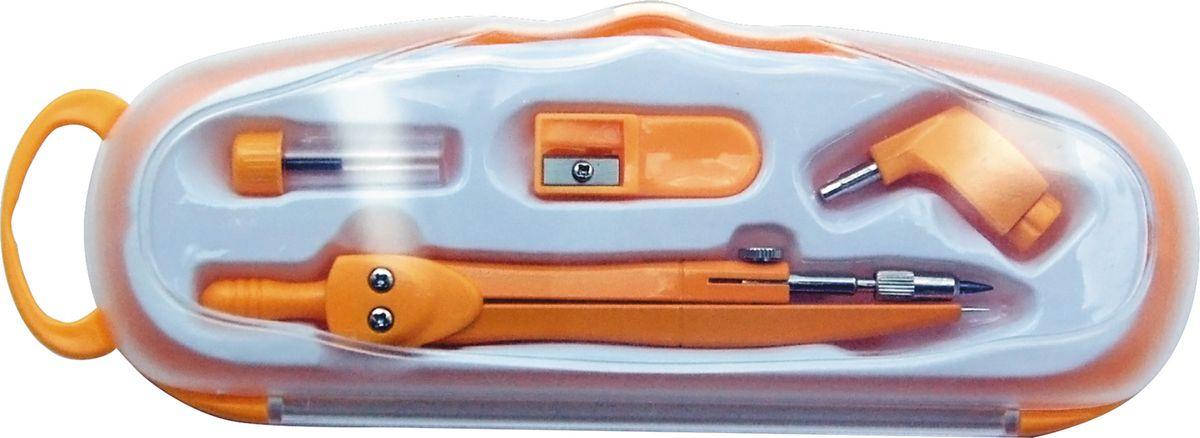 Perfecta Готовальня School 4 предмета цвет циркуля желтый2234Циркуль 115 мм цветной металлический с фиксированной иглой, защитным колпачком и держателем для карандаша. Запасной грифель и точилка. В пенале.