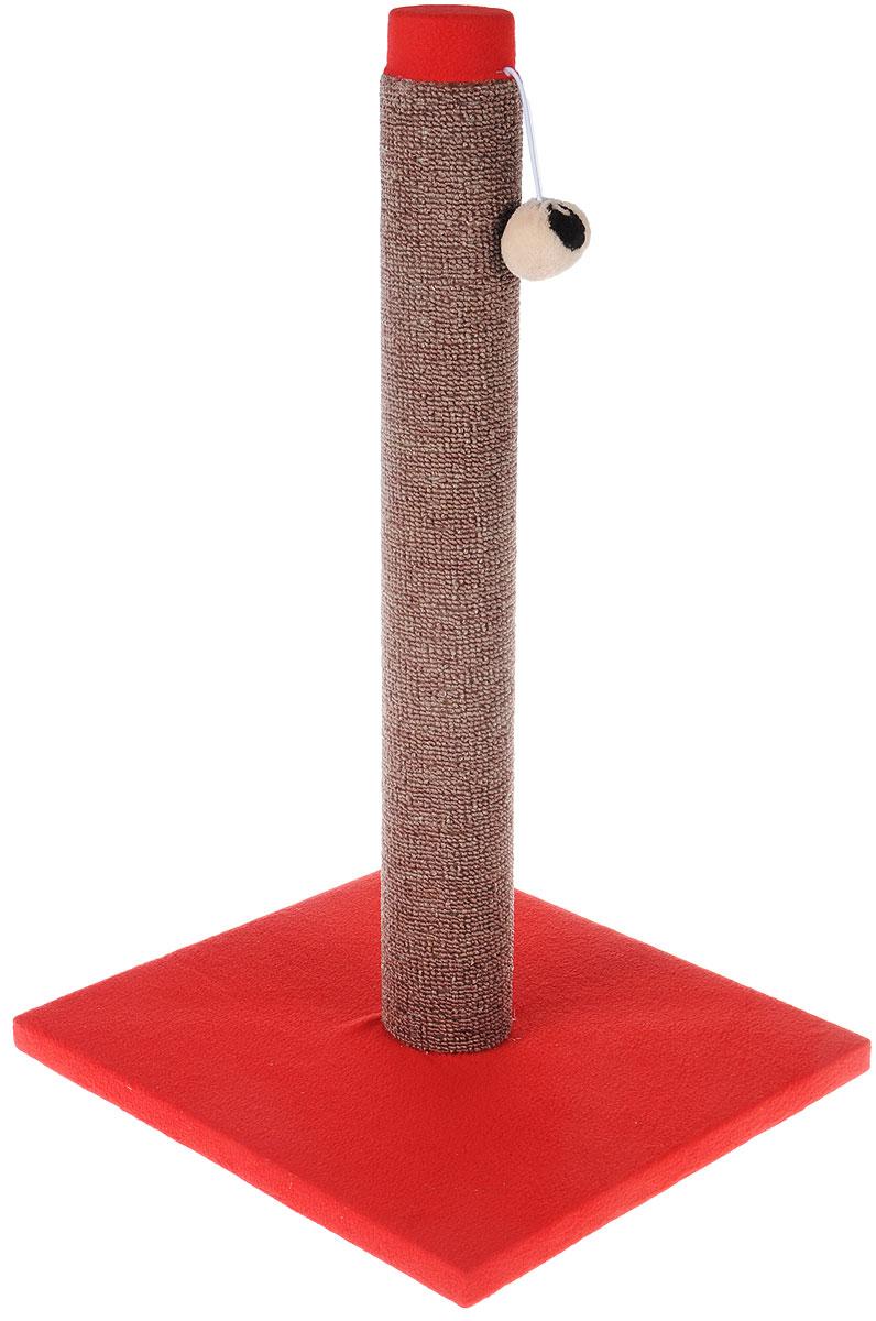 Когтеточка Грызлик Ам Столбик, ковролин, с игрушкой, цвет: красный, коричневый, 31 x 31 x 54 см40.GR.007Когтеточка Грызлик Ам Столбик выполнена из высококачественного ДСП и обтянута мягким плюшем. Изделие отлично подойдет для стачивания когтей вашей кошки и предотвращения их врастания. Столбик-когтеточка выполнен из ковролина. Этот материал обеспечит естественный уход за когтями питомца, поэтому теперь ваша мебель и стены будут в сохранности. Для игр предусмотрена игрушка-шарик на веревочке.