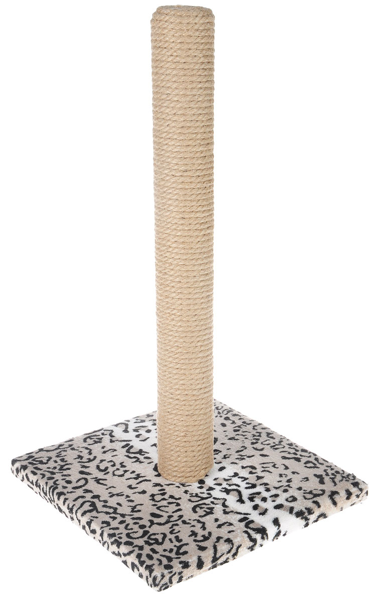 Когтеточка Грызлик Ам Столбик, джут, с игрушкой, цвет: серый, черный, белый, 31 x 31 x 54 см40.GR.103Когтеточка Грызлик Ам Столбик выполнена из высококачественного ДСП и обтянута мягким плюшем. Изделие отлично подойдет для стачивания когтей вашей кошки и предотвращения их врастания. Столбик-когтеточка выполнен из джута. Этот материал обеспечит естественный уход за когтями питомца, поэтому теперь ваша мебель и стены будут в сохранности.