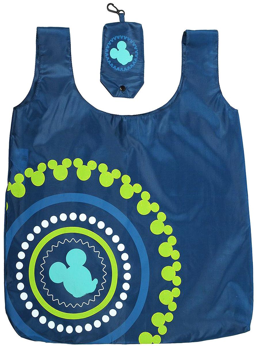 Сумка для покупок Disney Микки, складная, цвет: морская волна, 55 х 44 см23008Складная сумка Disney Микки понравится каждой хозяйке. Сумка выполнена из 100% полиэстера и оснащена двумя ручками. Сумка используется вместо пластиковых пакетов как экономичное и экологичное решение. СилуэтМикки и разноцветных рисунков делают эту сумку оригинальным аксессуаром. Для удобства хранения сумка собирается в компактный кармашек-чехол.Размер сумки: 55 см х 44 см.