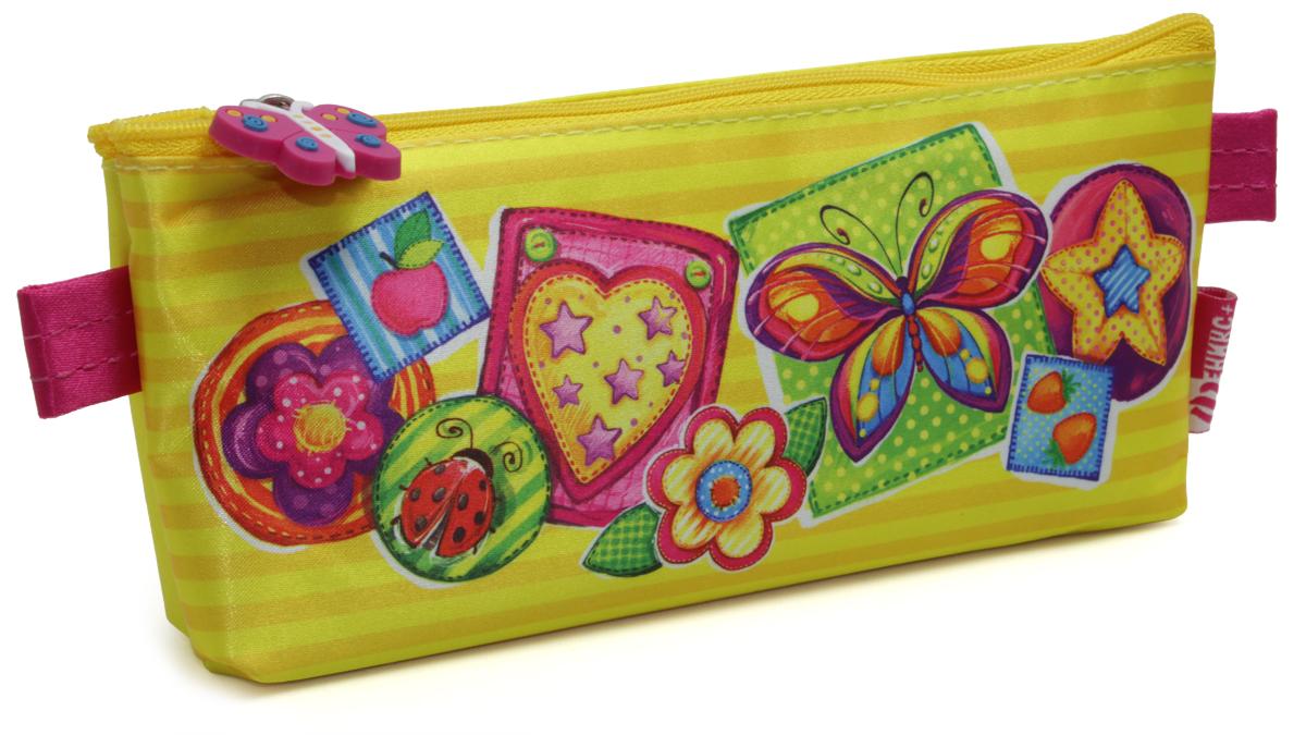Феникс+ Пенал Яркая бабочка72523WDПенал школьный без наполнения.Размер: 21x3,5x8 см.Материал: атлас.Застежка: молния.Фигурная собачка.