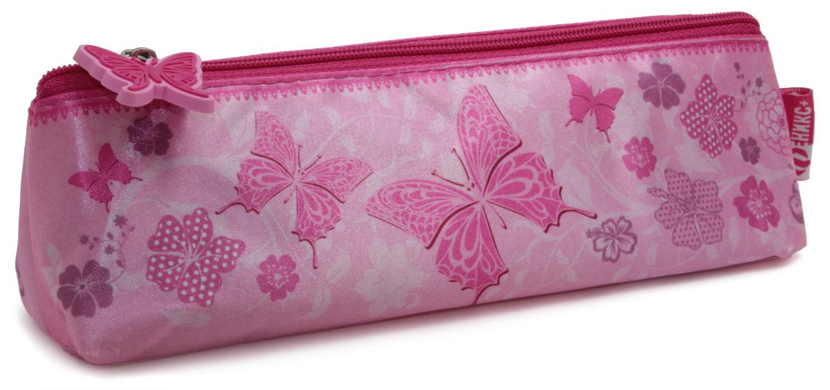 Феникс+ Пенал Розовые бабочкиBF_11039Пенал школьный без наполнения.Размер: 20x5,5x5,5 см.Материал: атлас.Застежка: молния.Фигурная собачка.