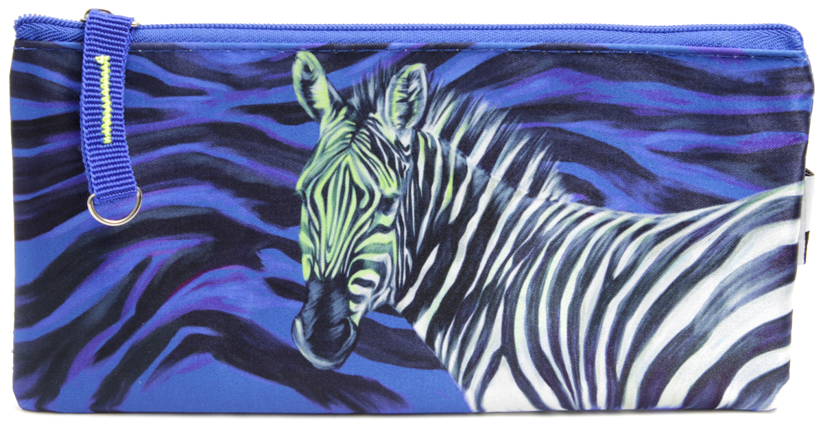 Феникс+ Пенал Зебра цвет синий49108-26\BCDПенал школьный без наполнения.Размер: 19,5x8,5 см.Материал: атлас.Застежка: молния.Фигурная собачка.