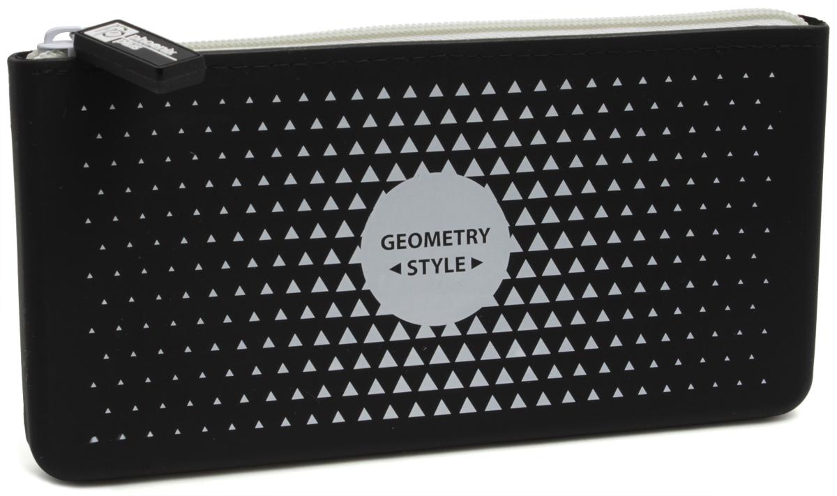 Феникс+ Пенал Геометрия43785Пенал школьный, без наполнения, застежка-молния.Материал: силикон.Размер: 20x10 см.