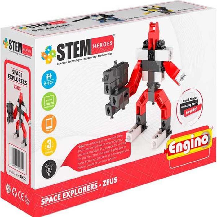 Engino Конструктор Stem Heroes Покорители Космоса Зевс 43 элемента