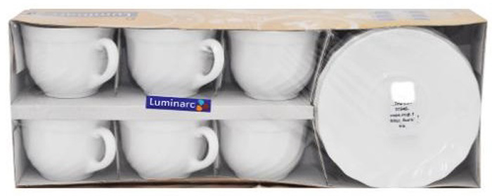 Чайный набор Luminarc ТРИАНОН, 160 мл, 12 предметов51946Бренд Luminarc – это один из лидеров мирового рынка по производству посуды и товаров для дома. В основе процесса изготовления лежит высококачественное сырье, а также строгий контроль качества. Товары для дома Luminarc уважают и ценят во всем мире, а многие эксперты считают данного производителя эталоном совершенства.