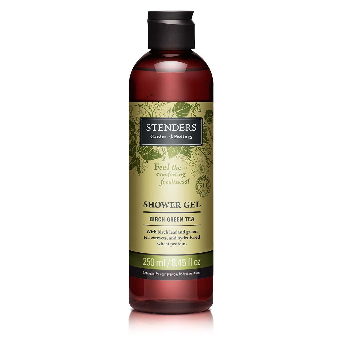 Stenders Гель для душа с экстрактом березовых листьев и зеленого чая, 250 мл - Косметика по уходу за кожей