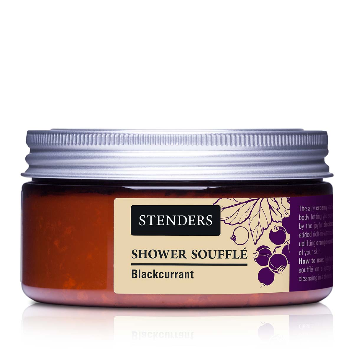 Stenders Черносмородиновый мусс для душа, 110 г67104755_newБлагодаря воздушной пене мусс нежно очистит кожу тела и подарит ей приятный аромат ягод черной смородины. Для красоты кожи мы добавили богатый витаминами экстракт черной смородины и бодрящее апельсиновое эфирное масло.