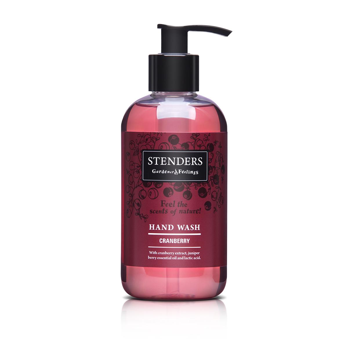 Stenders Жидкое мыло Клюква, 245 млHNWH001Наше нежное ароматное мыло, обогащенное тонизирующим клюквенным экстрактом, можжевеловым эфирным маслом и молочной кислотой, не только эффективно очистит кожу, но и сделает ее бархатной. После использования мыла на вашей коже останется свежий, природный аромат.