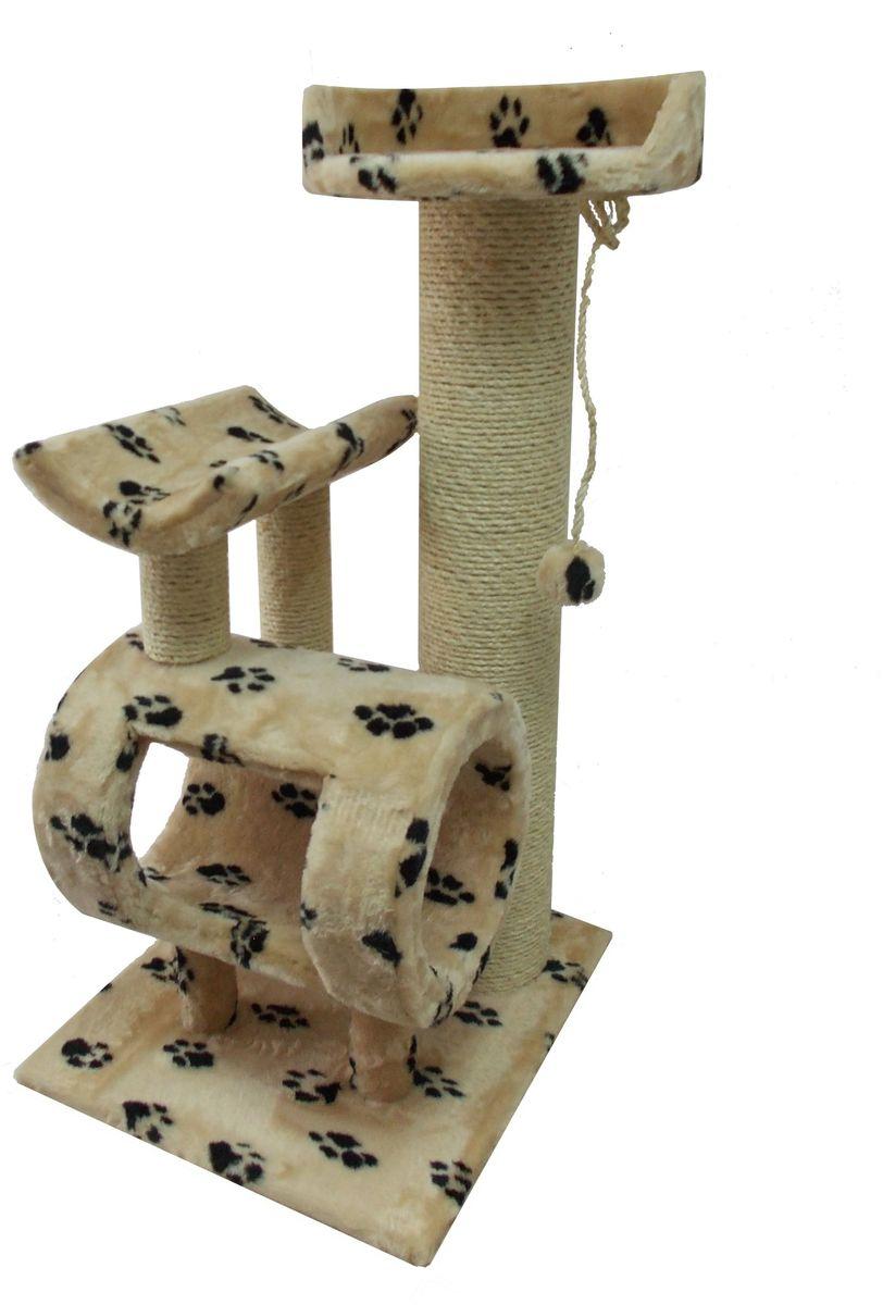 Когтеточка Пушок Атука, цвет: бежевый, черный, 60 х 55 х 110 см4640000935016Когтеточка Пушок Атука - отличная устойчивая когтеточка для кошек любых пород и разных возрастов, а также для нескольких кошек. Большое количество игровых площадок (седло, труба, лежанка) позволит вашей кошке разнообразно проводить свое время. В этой когтеточке есть мощный и толстый столб, который имитирует ствол дерева, благодаря чему ваша кошка будет с удовольствием точить об него коготки. Все столбики обмотаны высококачественной сизалевой веревкой, которая будет служить долго. Основание: 60 х 55 см.Высота: 110 см.Вес: 20 кг.Диаметр верхней лежанки: 40 см.Размер седла: 45 х 32 см.
