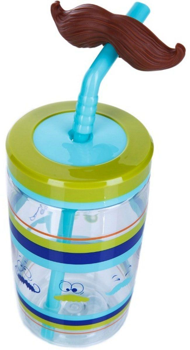Детский стакан для воды Contigo, с трубочкой, 470 мл, цвет: зеленый, синий, голубой. contigo0521contigo0521