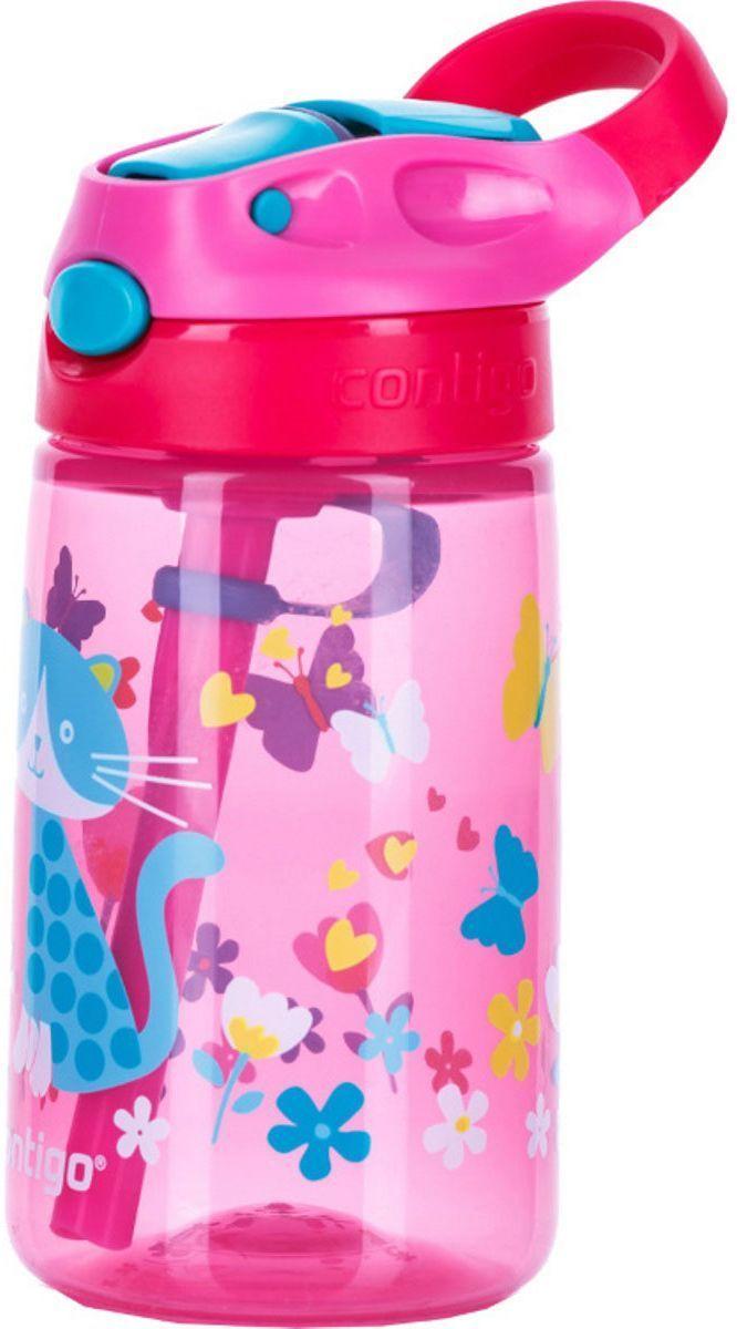 Детская бутылочка для воды Contigo Gizmo Flip, 420 мл, цвет: розовый. contigo0744contigo0744