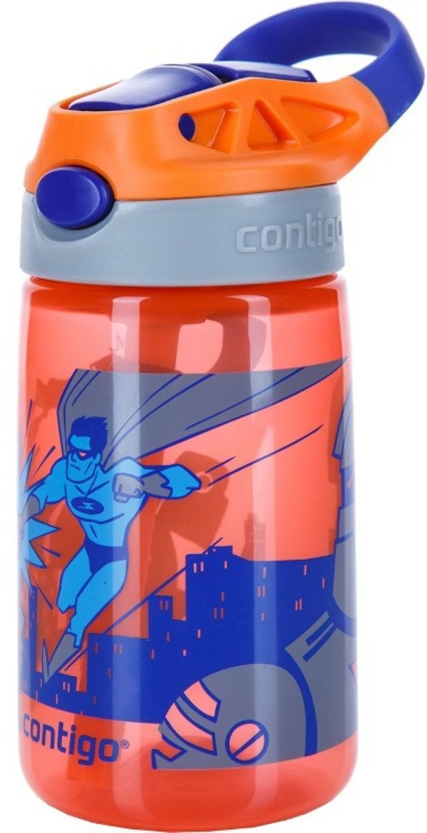 Детская бутылочка для воды Contigo Gizmo Flip, 420 мл, цвет: красный. contigo0745contigo0745