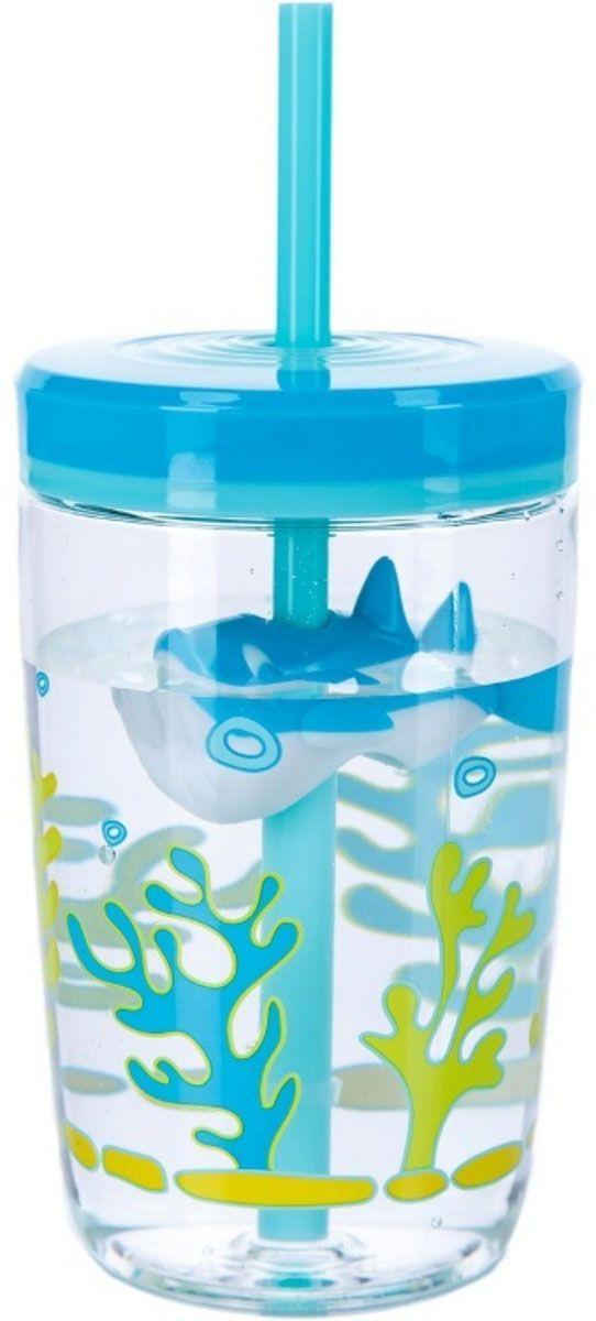 Детский стакан для воды Contigo Floating Straw Tumbler, с трубочкой, 470 мл, цвет: голубой. contigo0772contigo0772