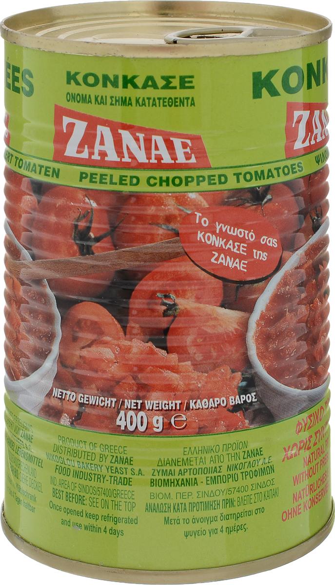 Zanae томаты кусочками в собственном соку, 400 г24Компания Zanae была основана в Салониках в 1930 году. Изначально она специализировалась на выпуске хлебопекарных дрожжей. Постоянно развиваясь и расширяя свой ассортимент, к 1950 году Zanae прочно заняла свою нишу в пищевой промышленности Греции. Сегодня Zanae является одной из лидирующих в Греции компаний по производству консервированных овощей и фруктов. Потребители высоко ценят качество и натуральный вкус продукции этой торговой марки.Сочные томаты Zanae обладают ярким вкусом, они отлично дополнят мясные блюда, соусы, овощи супы и рагу.