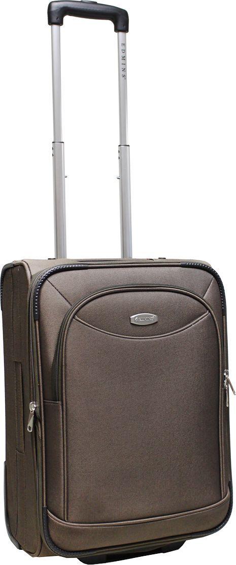 Чемодан-тележка Edmins, цвет: коричневый, 42 л. 213 НМ 720*10213 НМ 720*10Чемодан изготовлен из прочного полиэстера: ткань проста в уходе и легко чистится и выдерживает температурные перепады. Выдвижная ручка с кнопкой фиксатором. 2 колеса, которые скрыты в корпусе чемодана. Продуманная и удобная внутренняя организация включает: прижимные ремни для фиксации вещей, боковой карман на молнии, на крышке чемодана расположен карман-сетка на молнии, в комплект входит чехол для обуви. Ручка сбоку позволяет пронести чемодан там, где нет возможности катить. Встроенная адресная бирка расположена на задней стенке чемодана. На внешней стороне присутствует вместительный карман на молнии, который позволяет все самое необходимое хранить под рукой. Чемодан имеет функцию увеличения объема! Вес 3,1кг, объем 42л. Внешние габариты: 51х36,5х24 см. Гарантия 2 года.